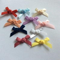 Satin Bows with Rose Centre