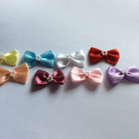 Satin Bows with Pearl Centre