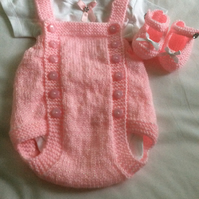 Baby Girls Traditional Romper Outfit