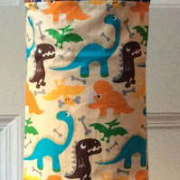 Child's Apron - Construction & Dinosaurs Age 6-8