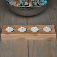 Handcrafted Solid Oak Tealight Holder