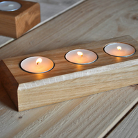 Solid Oak Handcrafted Tealight Holder
