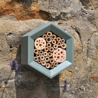Mason Bee House, Bee Hotel in Wild Thyme, Ideal Christmas Gift for Gardeners