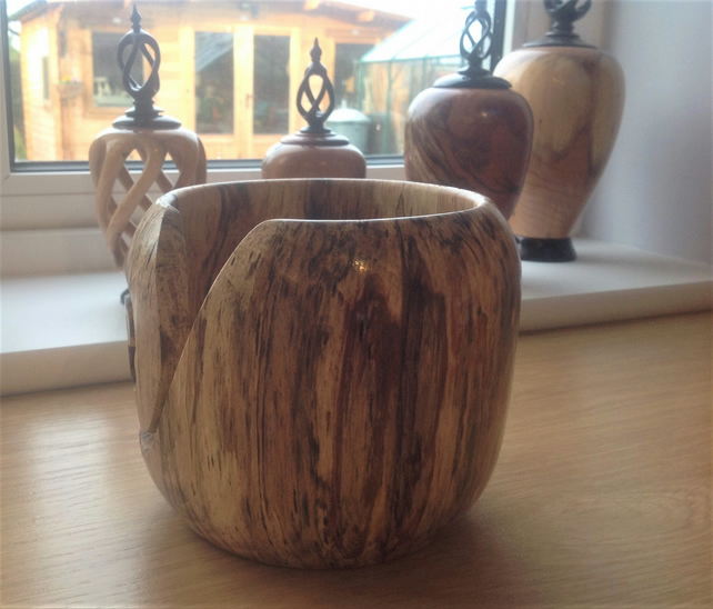 Spalted Beech Yarn Bowl