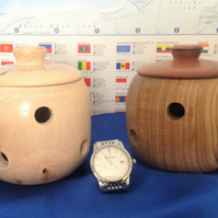 Hand made wooden Garlic Pots