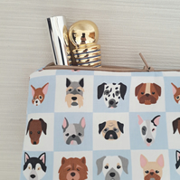 Dog make up bag, dog  cosmetic bag, make up storage