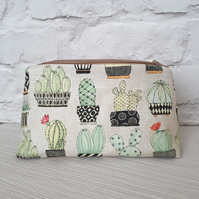 Cactus  make up bag, cactus cosmetic bag, make up storage
