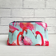 Flamingo make up bag, flamingo cosmetic bag, make up storage