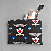 Fabric Bag with Doctor Print - lightly padded