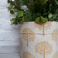 Plant pot, Fabric Pot, Indoor Plant Pot, Fabric Storage,  Handmade Home