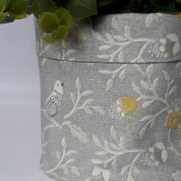 Indoor Plant pot, Fabric Pot, Plant Pot, Fabric Storage,  Handmade Home