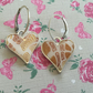 Polymer clay and resin heart earrings