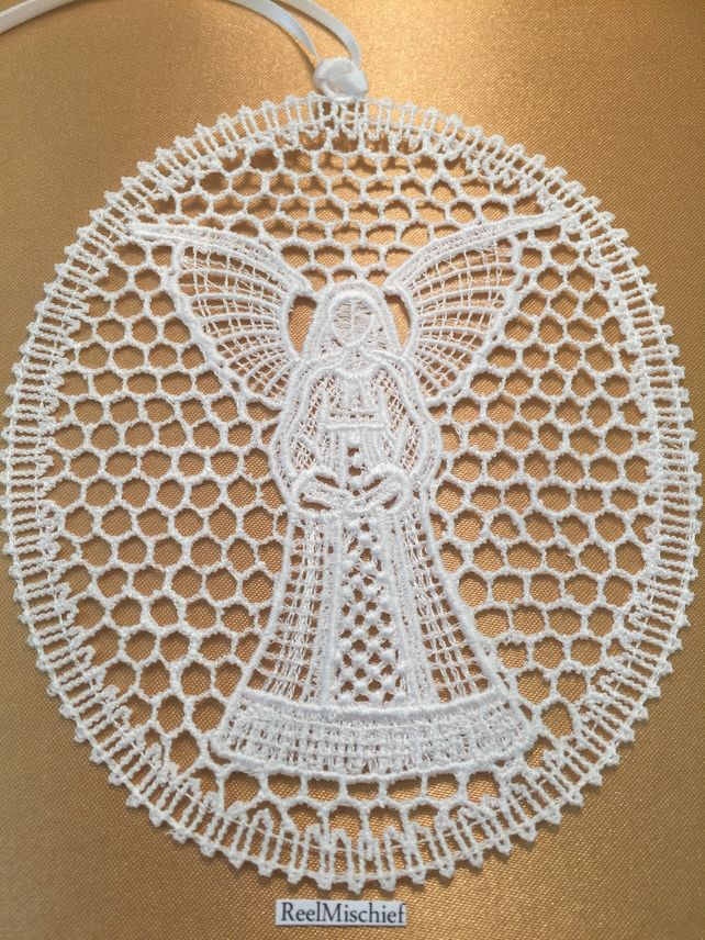 Lace Angel Sun Catcher Decoration