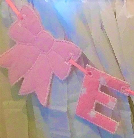 Personalised Letter Bunting Bows - Name or Words Garland Custom Made to Order