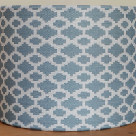 Drum Lampshade 20cm Damson & Slate Forget me not Blue
