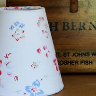 Floral Candle Lampshade White