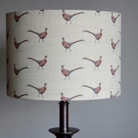 Drum Lampshade 30cm Small Pheasant by Flohr & co