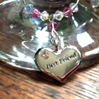Best Friend Gifts - Best Friend Wine Glass Charm, Gifts for Her, Birthday Gifts