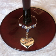 Brides Father - Wedding Favours - Wine Glass Charm - Wedding Accessories