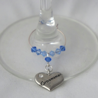 Groomsman Gifts - Wine Glass Charms - Wedding Favours - Top Table