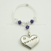 Brides Mother Gifts - Wedding Favours - Wine Glass Charms - Top Table Decoration