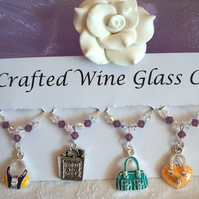 Handbag Wine Glass Charms - Teacher Gifts - Birthday Gifts, Gifts for Her