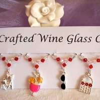 Wine Glass Charms - Beach Themed Charms - Mothers Day Gifts - New Home