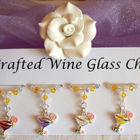 Wine Glass Charms - Cocktail Wine Glass Charms - New Home - Mothers Day Gifts