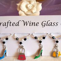 Shoes and Handbags - Wine Glass Charms - Mothers Day Gifts - New Home