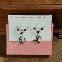 Wine Glass Charms - Ruby Wedding Anniversary Gift - 40th Anniversary Gifts