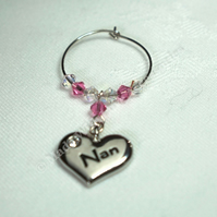 Wine Glass Charms - Nan Gift Ideas - Birthday Gifts - Wedding Favours