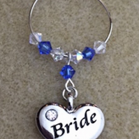 Bride Wine Glass Charm - Gifts for Bride - Bride Wedding Favours