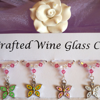 Butterfly Wine Glass Charms - Mothers Day Gifts - New Home Gift Ideas