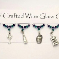 Wine Glass Charms 'Vineyard' - Gift Ideas - Mothers Day