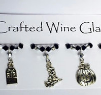 Halloween 'Spooky Night's' Wine Glass Charms - Halloween Decorations