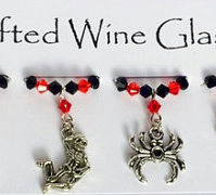 Halloween 'Pumpkin Surprise' Wine Glass Charms - Halloween Decorations