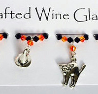Halloween 'Witches Tricks' Wine Glass Charms - Halloween Decorations