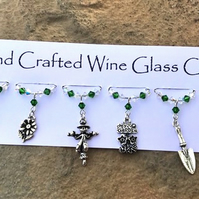 Gifts for Gardeners - Wine Glass Charms - Gifts for Her -