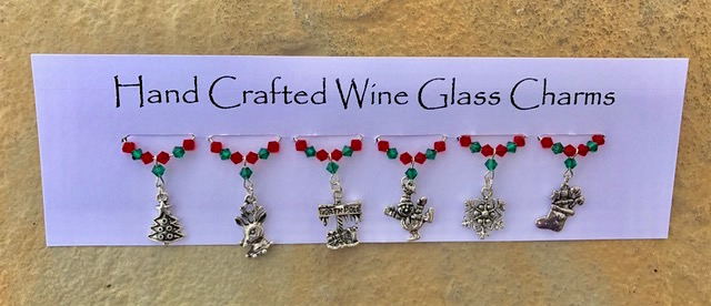 Christmas Wine Glass Charms - Table Decorations - Stocking Fillers