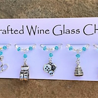 Sewing - Wine Glass Charms - Needlecraft, Dressmakers - Mothers Day Gifts