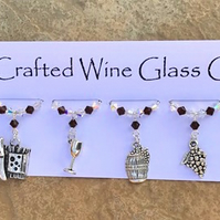 Wine Glass Charms - Cheese and Wine - Mothers Day Gifts - New Home