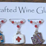 Wine Glass Charms - Nurse Charms - Medical Wine Glass Charms - Gifts for Her
