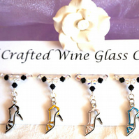 Wine Glass Charms, Shoe Wine Glass Charms, Mothers Day Gifts, Gifts for Her
