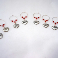 Bridal Party Accessories - Bridal Wine Glass Charms - Wedding Favours
