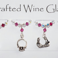 Hen Party Wine Glass Charms - Hen Party Accessories - Bride to Be