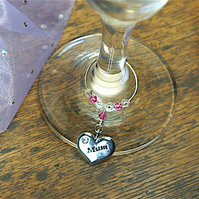 Mum Wine Glass Charm - Mother's Day - Gifts for Her - Birthday Gifts