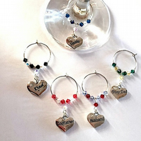 Dad Wine Glass Charms - Gifts for Him - Brandy Glass - Father's Day Gift's