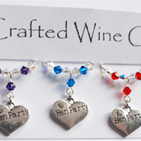 Hen Party Wine Glass Charms - Hen Party Accessories - Wedding Accessories