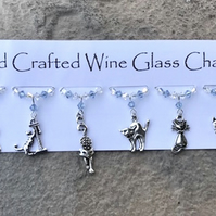 Cat Wine Glass Charms -Mothers Day Gifts, Birthday Gifts, New Home