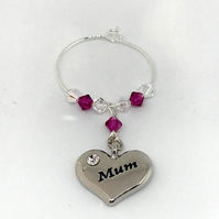 Mum Wine Glass Charm - Gifts for Her - Birthday Gifts